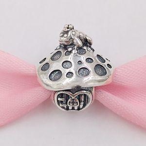 Otantik 925 Gümüş Boncuk Mantar Kurbağa Charm Charms Avrupa Pandora Stil Takı Bilezikler Kolye 798558C00 uyar