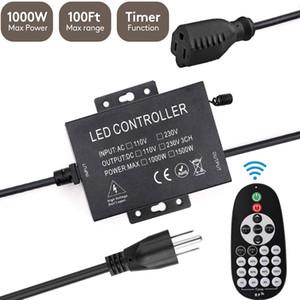 1000W sem fio RF Outdoor Dimmer Switch, Dimmer exterior, controle remoto escurecimento Controller, 100FT Max Faixa de escurecimento de LED Luzes Cordas
