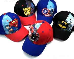 1pcs desenhos animados crianças Vingadores Batman Superman Spiderman Moda Chapéu de Sol tampa chapéus Acessórios Casual boné de beisebol Cosplay do presente do partido crianças