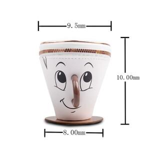 Tasarımcı-Yeni Yaratıcı Karikatür Fincan Şekli Tasarımcı Madeni Para Çanta PU Mini Coin Pouch Erkekler Kadınlar Fermuar Açık Debriyaj Cüzdan Moda Anahtar Kılıfı