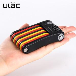 2 colori 4 cifre blocco della password ULAC bicicletta mini blocco pieghevole portatile pieghevole attrezzature bicicletta MTB su strada