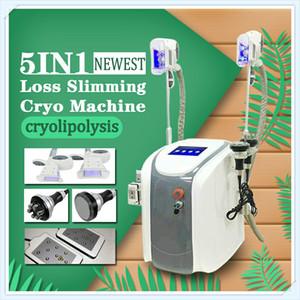 Cavitação + RF + Lipo Laser + corpo de máquina magro da correia do gelo do cryolipolysis que esculpe a máquina de congelação gorda fresca do emagrecimento da tecnologia para o salão de beleza