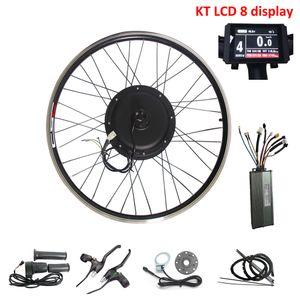 CSC 20-29 Zoll Elektrische Fahrrad Ebike-Umwandlungs-Kit 48V 500W bürstenloser Getriebellos-Naben-Motorrad-Ebicycle mit KT-LCD-Anzeige