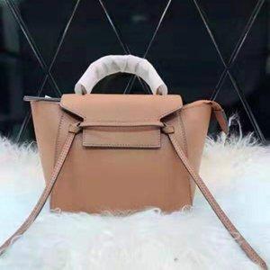 Designer de marca sacos cinto nano para mulheres bolsa de compras de moda Shoulder Bag borla Purse ao topo Qualidade de couro genuíno trapézio bolsa para senhora