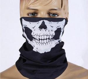 Хэллоуин косплей велосипед лыжный череп половина лица Маска призрак шарф бандана шеи теплее партии оголовье магия тюрбан Балаклава Бесплатная доставка SN4217