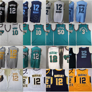 Billig Basketball Michael Mike Bibby Jersey 10 JA Morant 12 Bryant Reeves 50 Shareef Abdur Rahim 3 Old Vancouver Green Turquoise Pro Green