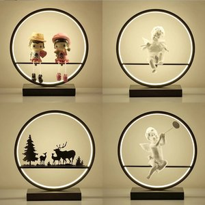 Wedding table lamp eye protection desk bedroom creative personality plug-in art beautiful cartoon princess children bedside lighting AL28