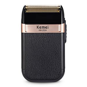 Kemei USB rasoir électrique rechargeable pour hommes double lame de rasoir sans fil Barbe Reciprocating cheveux rasage MachineBarber Trimmer