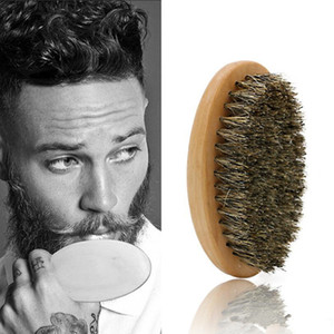 Barba Bro Shaping Barba Brush Sexy Man Gentleman Barba plantilla Recortar el peinado de afeitar Herramienta de peinado Jabalí cerdas envío gratis