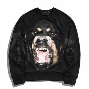 19ss Mens cappuccio Moda Uomo Donne giacca casual Coppie autunno allentato con cappuccio Dog stampa Felpa