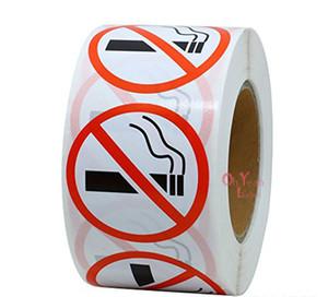 500pcs NO Smoking label Adhesive paper Label Sticker for Seal Label Sticker paper sticker