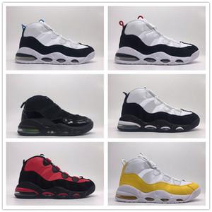 Bonne qualité Uptempo 95 OG Derek Fisher PE Hommes Basketball Chaussures 95s Noir / Volt équipe magique Rouge Jaune Mens Designer formateur