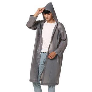 1pc Reusable Raincoat Outdoor Gadget Durable Transparent Rain Coat Vogue Waterproof Raincoat for Women Men 150cm-190cm Height