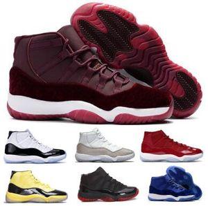 Mens 11 11s Basketball-Schuh-Turnschuhe Concord 45 Heiress Velvet Gym Red Space Jam Platinum Jumpman XI 2020 neue Ankunfts-Frauen-Trainer-Schuhe