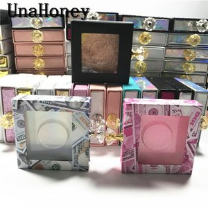 10pcs Cristal Handle NOVO 25mm cílios postiços embalagem caixa Lash Caixas Falso 3d Mink Lashes Glitter caixa vazia