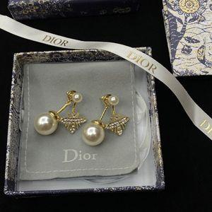 Fashion Luxury Earrings For Hip Hop Men Grade Quality 18K Gold Plated Copper Square Zircon Stud Earrings 925 Silver Ear Caps LER047