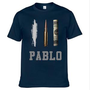 Лето Новый бренд одежда Футболки Мужские Нарко Pablo Escobar футболка хлопок Hip Hop O шеи тройники Топы Горячие