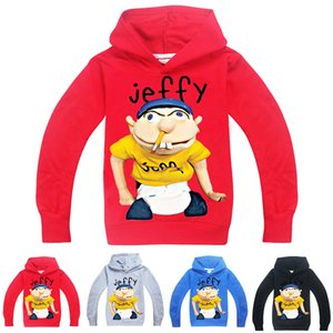 sml Jeffy impressa crianças Hoodies 6-14T Crianças Meninos dos desenhos animados Imprimir hoodies camisolas 115-165cm Crianças Designer Clothes Meninos Atacado ZSS384
