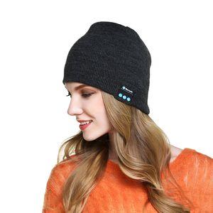 Wholesale Bluetooth Music Beanie Hat Wireless Smart Cap Headset Headphone Speaker Microphone Handsfree Music Hat OPP Bag Package