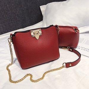 Мода цепи сумки композитный сумка Сумка кожаные сумки Messenger Crossbody сумка дамы сумки на ремне yitao/1