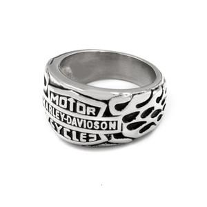 Anillo Fashong europeo y americano mujeres hombres acero inoxidable nener se desvanecen color oro / plata para elegir Harley Biker anillo de joyería Tamaño 7-13
