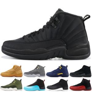 Melhor 12 12s alta tênis de basquete Mens Leather Wntr PRM Michigan Azul francês XII Men Shoes Esporte Sneakers competitivas