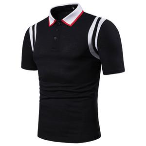 قمصان مصمم المرقعة عارضة بولو رجل الصيف طوق مصمم المحملات رفض شريط طباعة hombres polo kbfcm