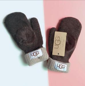 Guantes / mitones de lana unisex / guantes calientes Europea diseñadores de moda / giro que guantes de punto