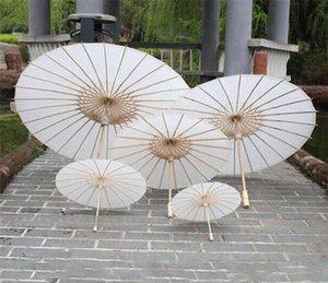 Bridal Wedding Parasols White Paper Umbrellas Chinese Mini Craft Umbrella Diameter 20 30 40 60cm Wedding Umbrellas DHL FEDEX free