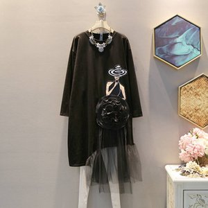 20190921 robe mi-longs avec patchwork lâche et grand ourlet filé-