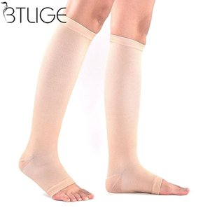Frauen Männer Unisex Open Toe Kompression Knie Bein Relief Schmerz Unterstützung Socken Relief Therapeutische Anti-müdigkeit Compression Socks