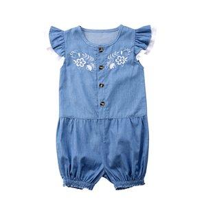 Pudcoco 2019 Yenidoğan Bebek Kız bebekler Denim Pantolon Romper Tulum Romper Kıyafetler Giyim