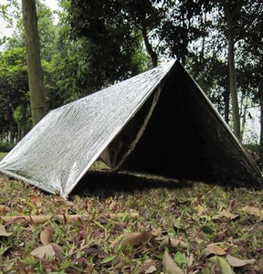 Emergency Shelter PET Film Tent 240*150cm Waterproof Sliver Mylar Thermal Survival Shelter Easy To Carry Camping Tents Shade GGA3387-4