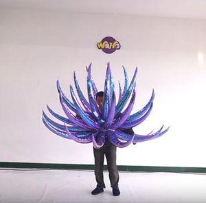 Décor personnalisé scène gonflable Costume Costume Gonflables Aile Costume de Colorful adulte Coup Wearable Complets Up Butterfly Parade