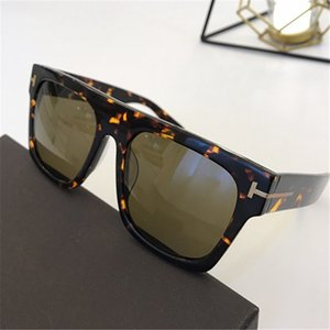 HOTSALE&NEW TF0711 Concise Square Big-Rim Unisex SUNGLASSES UV400 55-22-145 Imported Pure-Plank frame All-match Fashion Star-style fullse