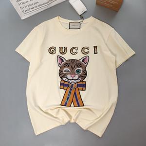 2020 Designertshirts New Hot vente Femmes Hommes T-shirt Fashion Casual T-shirts Printemps de luxe de haute qualité Fille T-shirt B105873D