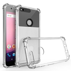 Per Google Pixel 1 2 3 XL Air Cushion Case Clear Crystal Soft Silcone TPU Shockrpoof Cover protettiva per telefono