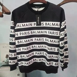 19FW Balmain con capucha del estilista con capucha de alta calidad Loose Fit Hombres Mujeres Hip Hop Hoodies del tamaño S-XL