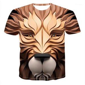 Print Tshirts Casual Crew Neck Short Sleeve Tshirts Fashion Summer Mens Clothing Designer Mens 3D Animal