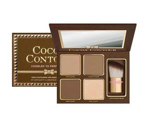 Dropshipping COCOA Contour Kit 4Colors Bronceadores Resaltadores Paleta de colores Desnudos Color Shimmer Stick Cosméticos Sombra de ojos con Brus