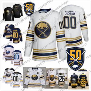 Personalizados Buffalo Sabres 2019 Cualquier Número Nombre # 13 Jimmy Carter Vesey 40 Hutton 55 Rasmus Ristolainen 62 Brandon Montour Jersey oro blanco azul