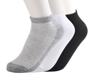 New Design 10 Pairs Solid Mesh Mens Casual Socks Invisible Ankle Socks Men Summer Breathable Thin Male Boat Socks