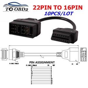 10PCS / LOT per Toyota 16 cavo diagnostico 22 Pin Per 16Pin OBD2 cavo di collegamento Toyota 22pin a Pin Adapter