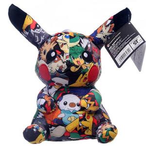 20cm / 8 polegadas = brinquedo de pelúcia impressão a preto Pika pelúcia boneca brinquedos infantis para os presentes das crianças das crianças brinquedos por amazzz