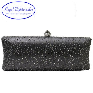 Royal Nightingales 2019 Women Party Metal Crystal Clutches Evening Bags Crossbody Handbag Wristlets Hard Case Clutch for Gift CJ191209