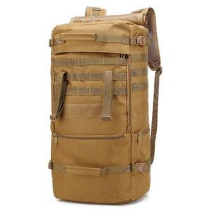 Водонепроницаемый 60L Tactical Камуфляж sprots рюкзак мужчины путешествия на открытом воздухе мужчин Альпинизм Туризм Скалолазание Отдых на природе сумки