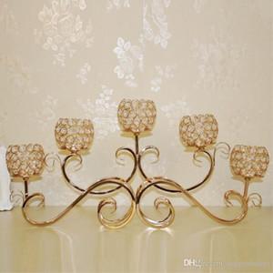 6 pièce Creative européenne forgé fer cristal chandelier / romantique dîner aux chandelles articles d'ameublement / 5 tête chandelier