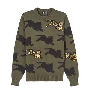 DUYOU 2019 Nuovo Autunno Inverno Maglione Pullover Tiger Maglione maschio casuale qualità più alta Size