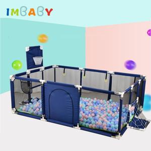 IMBABY bebé infantil Piscina seco con valla Bolas bebé recién nacido Para corral por 0-6 años Los niños barrera de seguridad SH190923 Fence Bed
