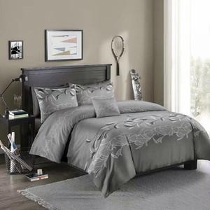 Flores em 3D Jogo do fundamento Rei Consolador Bedding Set Duvet rainha Tampa Com fronha Floral cama Set